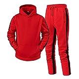 Ronony Herren Jogginganzug Sportanzug Sporthose+Hoodie, Männer Trainingsanzug Sporthose...