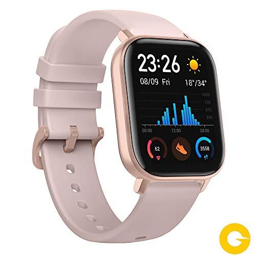 Amazfit GTS Reloj Smartwactch Deportivo | 14 días Batería | GPS+Glonass | Sensor Seguimiento Biológico BioTracker PPG | Frecuencia Cardíaca | Natación | Bluetooth 5.0 (iOS & Android) Rose-Gold