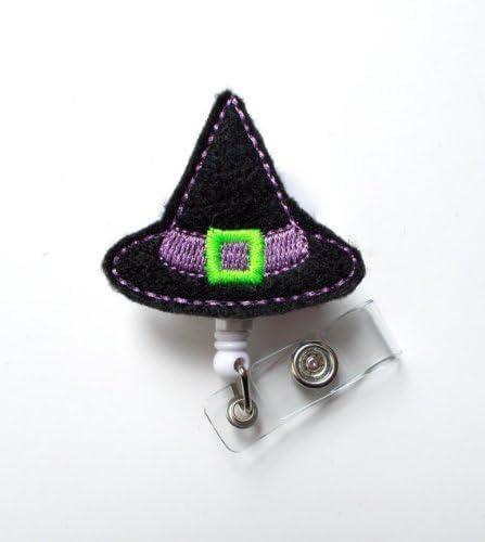 Badge Holder Nurse Badge Reel Face Mask Holder Cute Halloween Witch Cauldron Badge Reel Teacher Badge Reel ID Holder