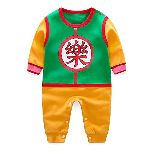 Beal Shopping Mono para bebé recién Nacido, diseño de Bola de dragón Yamcha Verde 3-6 Meses