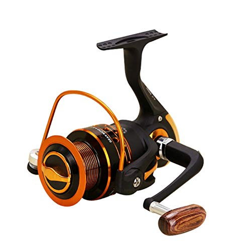 AIWKR Carrete De Pesca Spinning,anticorrosión, Agua Salad,para Agua Salada Agua Dulce Carretes Ultra Lisos Ultraligeros