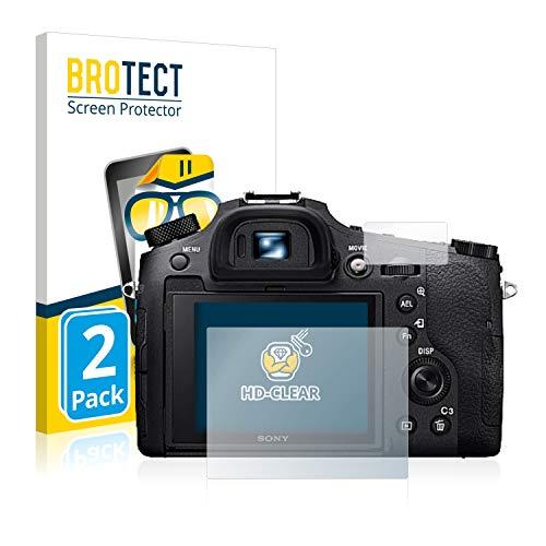 BROTECT Schutzfolie kompatibel mit Sony Cyber-Shot DSC-RX10 IV (2 Stück) klare Bildschirmschutz-Folie