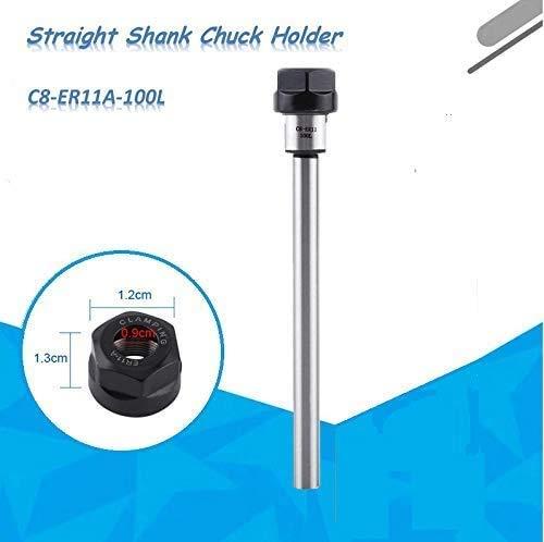 ER11 Spantanghouder C8-ER11A-100L, Rechte schacht CNC-freesgereedschap draaibank spantang, metalen verlengstang, voor CNC-draaibank frezen