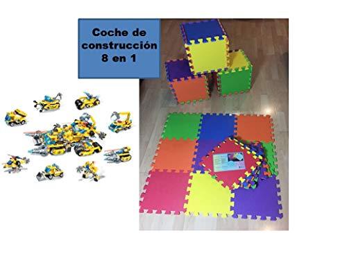 Kindervloerkleed puzzelvloer, EVA-schuim, 9-delig, 32 cm. Speelplaats voor kinderen van schuimrubber, speeldeken voor kinderkamer bekleed + speelblok.