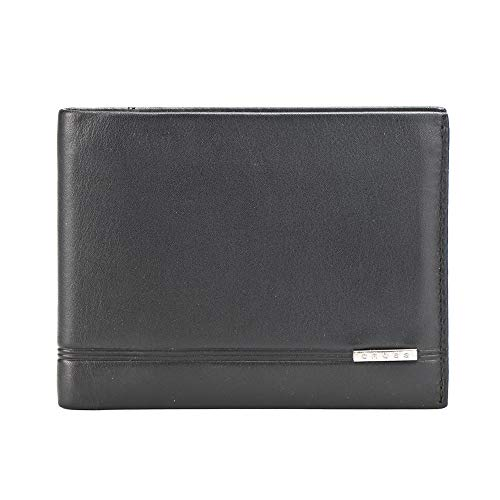 Cross Classic Century Branded Bi-Fold Card Wallets for Men Leather with Proper Compartment for Card - Black