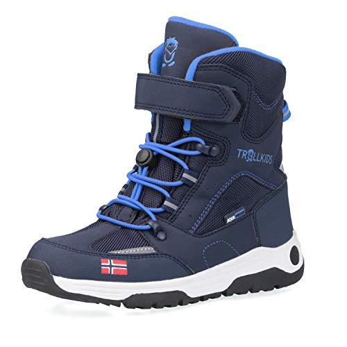 Trollkids Kinder Lofoten Winterstiefel Winter Schuhe XT, Marineblau/Mittelblau, Größe 32