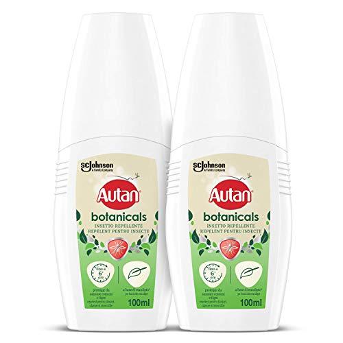 Autan Botanicals Vapo Bipacco, Insetto Repellente e Antizanzare a Base di Olio di Eucalipto, 2 Confezioni da 100 ml