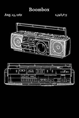 Boombox: Journal - Stereo Boom Box Rap Hip Hop (Blank Lined Notebook)