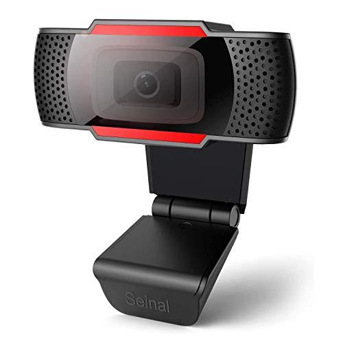 Seinal Webcam mit Mikrofon, Full HD 1080P Streaming Webcam für PC, Laptop, Mac, Plug-and-Play Webcam USB mit Autofokus & Weitwinkel für YouTube, Skype Videoanrufe, Lernen, Konferenz, Spielen