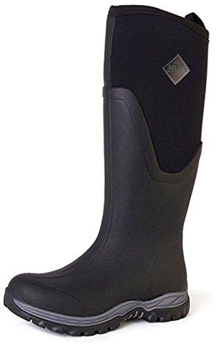 Muck Boots Chore Classic Tall Steel Toe Men's Rubber Work Boot,Black/pink, Women's 9