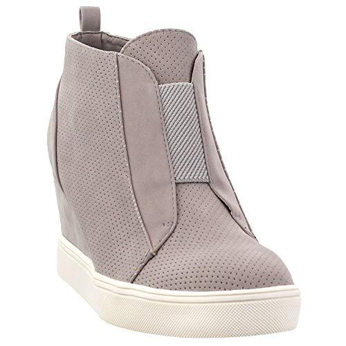MIA Womens Cristie Casual Sneakers, Grey, 10