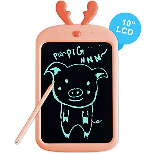 Richgv® Tableta de Escritura LCD,Tablero Negro Inteligente Juguetes de Aprendizaje Tablero de Dibujo Electrónico Escritura a Mano y Doodle Pad para Niños y Adultos (10 Pulgadas, Naranja)
