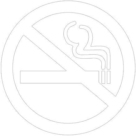 ピクトグラム 禁煙 ステッカーデカール (白色 )