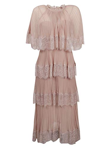 Luxury Fashion | Self-portrait Dames RS20116MNUDE Roze Polyester Jurken | Lente-zomer 20