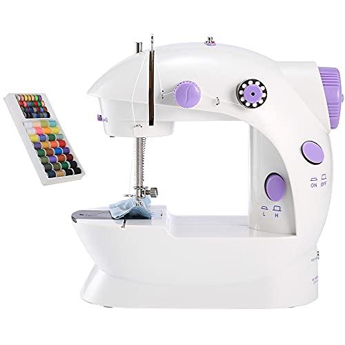 YSSMAO Mini Máquinas de Coser de Mano portátil Puntada Costura Costura Ropa inalámbrica Telas de Telas eléctricas de Costura de Costura