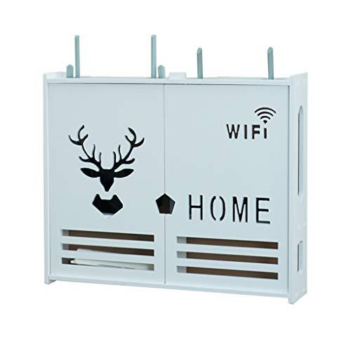 Good decoration Wandhalterung WiFi Shelf-Multimedia Blocking Box Multifunktionale Weiß WPC-Aufbewahrungsbehälter Wireless Router Wand Finishing Box Set-Top-Box Blocking Box (Size : S)