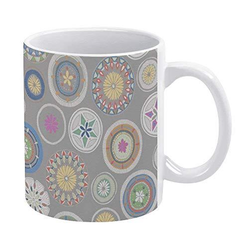 N\A Taza de café Taza de café Divertida de 11 oz La Mejor Idea de Regalo de San Valentín para papá, mamá, Esposo, Esposa, él o Ella, Novedad, Pango Mandala, Taza de café de Peltre, Taza de té