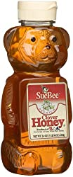 Sue Bee Clover Honey 24-Ounce Squeeze Bears (Pack of 4)