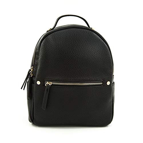 EMPERIA Karis Vegan Leather Small Fashion Backpack for Women Black