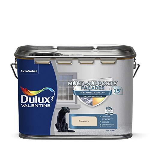 Dulux Valentine Peinture Multi-Supports Extérieure - Façades - Mat Ton Pierre 2,5L