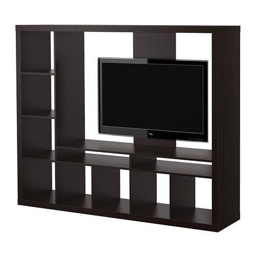 IKEA LAPPLAND TV Schrank schwarz braun 72x57 7/8 14210.26175.128