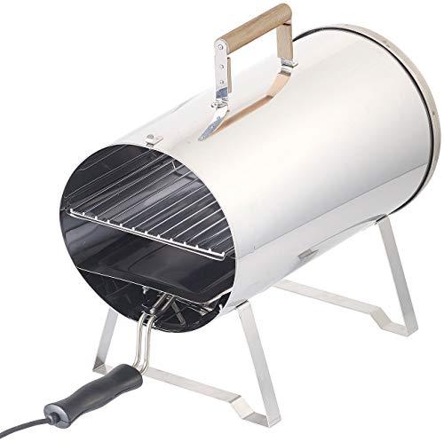 Rosenstein & Söhne Tischräucherofen: Elektro-Tisch-Räucherofen & Smoker, Edelstahl, 1.100 Watt, bis 250 °C (Tischräucherofen elektrisch)