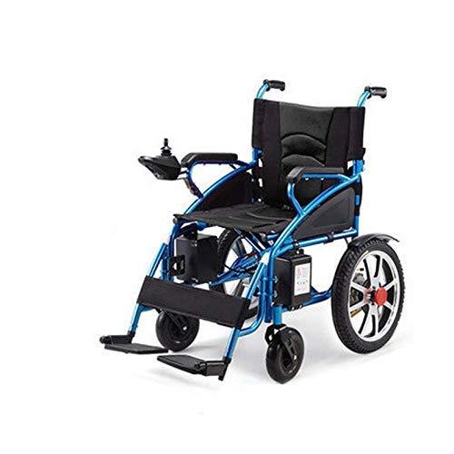 Y-L Creative Seniors volledig automatische elektrische rolstoel opvouwen lichtgewicht gehandicapte rolstoel oudere elektrische transportstoel, opvouwen Compact en gemakkelijk op te slaan (kleur: rood, Maat : 97X96Cm)