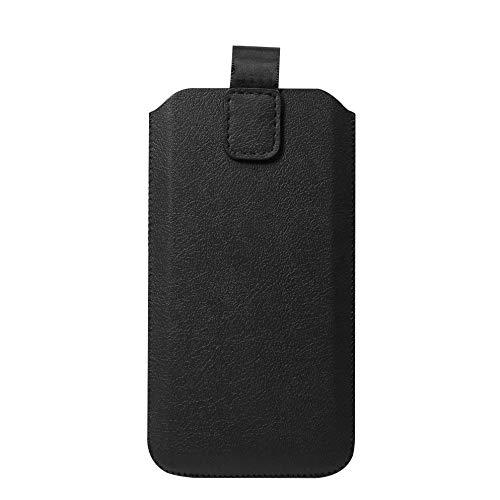 """Schützende Handytasche -Sleeve mit Magnetverschluss, 4.7\"""", Schwarz (geeignet für Samsung, Apple, Huawei, Sony, LG, Nokia, etc.)"""