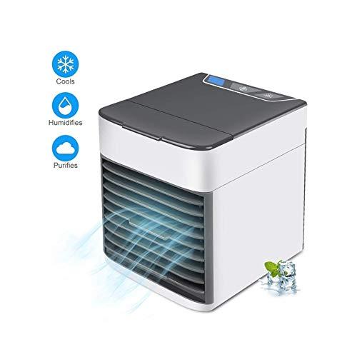 7 colores de luz de aire enfriador ventilador de aire acondicionado humidificador purificador mini USB portátil de escritorio ventilador de refrigeración de aire, Enfriador de aire