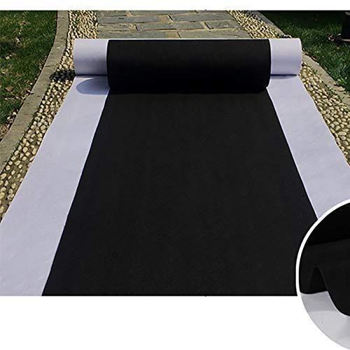 Corredor De Pasillo Negro Alfombra Negra, Alfombra De Poliéster De 2.2 Mm De Espesor Para La Boda De La Fiesta De Fiesta, Corredor De Alfombra Desechable Para El Inte(Size:1×10m(3×33ft),Color:negro)