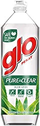 Glo Dishwashing Liquid, Pure & Clear Aloe Vera, 900ml
