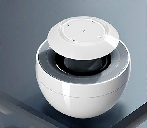 XiY Im Freien beweglicher Bluetooth Lautsprecher Wireless Weiß Lautsprecher Sound-Stereo-Musik-360 Surround Lautsprecher Wasserdicht Swan,Weiß