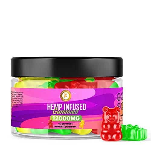 Premium Gummies | 12000 mg | 40 Gummis | Maximale Stärke | Hergestellt in Großbritannien | vegan-freundlich
