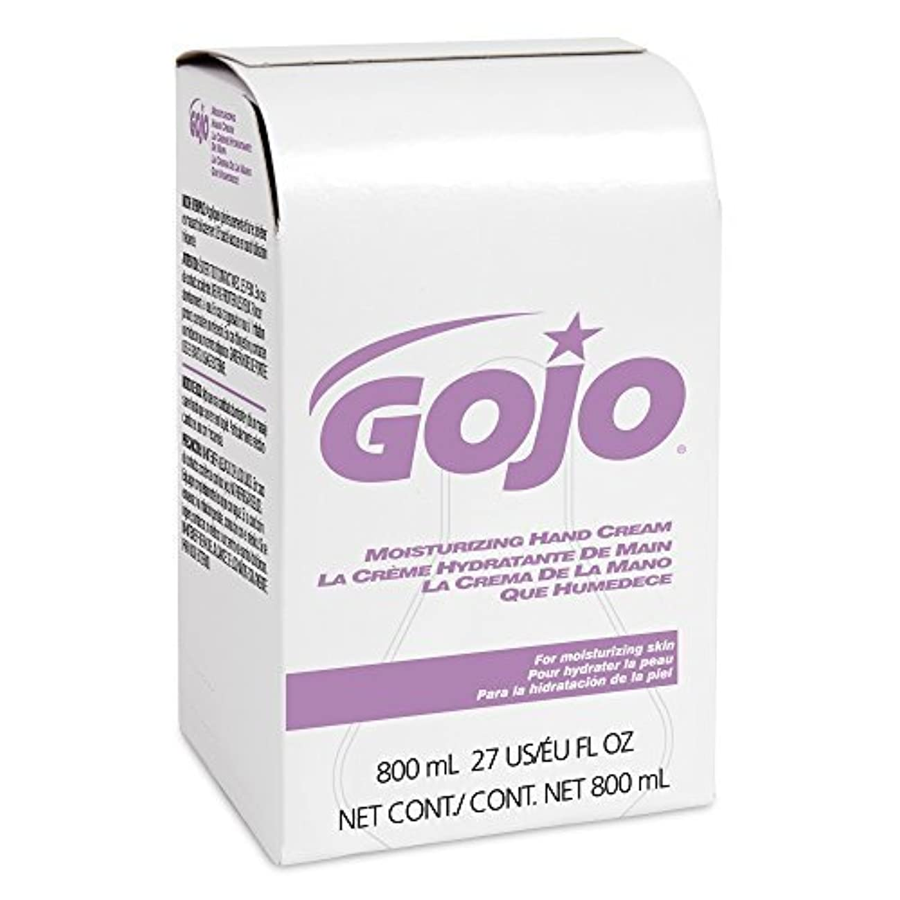 自慢印をつけるきしむGOJO 9142-12 Moisturizing Hand Cream 800 mL Refill (Pack of 12) [並行輸入品]