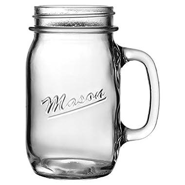 Heavy Glass Mason Jar Drinking Mug (1)