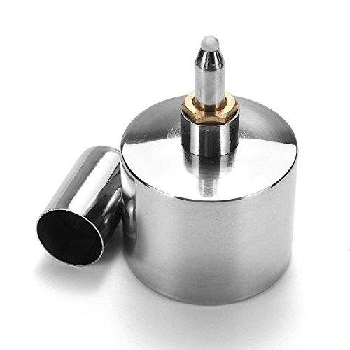 SGerste - Lámpara de acero inoxidable para quemador de alcohol de laboratorio, antiexplosión, 200 ml