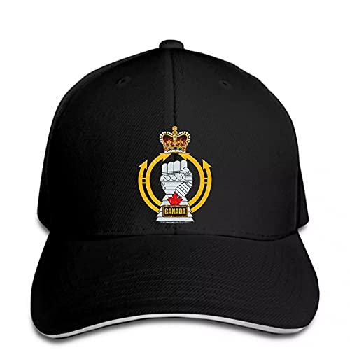 FOMBV Gorra de béisbol Hombres Royal Canadian Armored Corps Unisex Mujeres Snapback Hat Peaked Ajustable Regalo de Gorra de Visera Deportes al Aire Libre