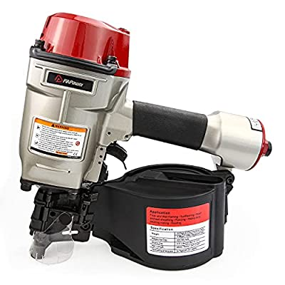 PIKPOWER Pneumatic 15-Degree Coil Siding Nailer 1-3/4 to 2-3/4 Inch Roofing Nailer Gun Fit For Assembly Repair of Pallets Drums Wooden Fencing Crating Siding Decking and Sheathing by PIKPOWER