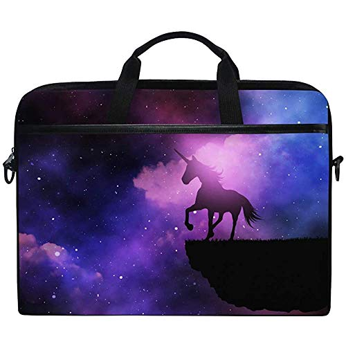 3D Galaxy Unicorn With Night Sky Laptop Bag Case Sleeve Briefcase Waterproof Shoulder With Strap For Ultrabook Notebook 14 Inch