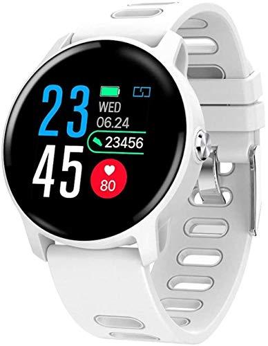 Smart Herren-Armbanduhr, IP68, wasserdicht, Fitness-Tracker, Herzfrequenzmesser, Damenuhr, Sport, Farbe: Weiß
