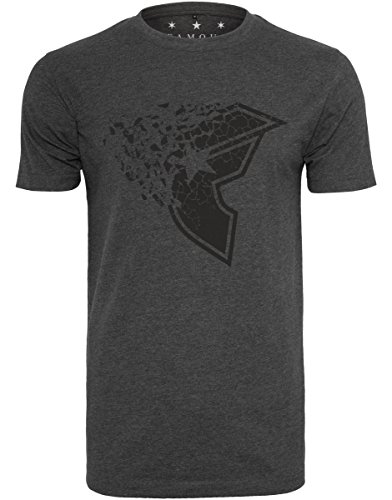 Famous Stars and Straps Herren Blasted T-Shirt, Charcoal, L