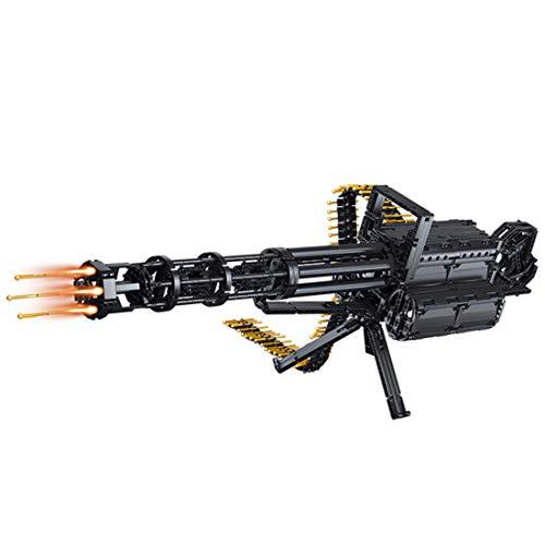 DAN DISCOUNTS Juego de construcción de bloques de construcción para armas de tiro, 1422 pieza de sujeción Gatling, armas mecánicas, modelo con función de disparo y motores