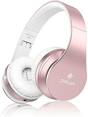 SLUB Bluetooth 5.0 Headphones Over Ear Wireless/Wired/TF Built in Mic 28H Play Time Hi-Fi Deep Bass HD Stereo Sports Active Noise Cancelling Foldable Headset Touch-Control for Cell Phone/PC