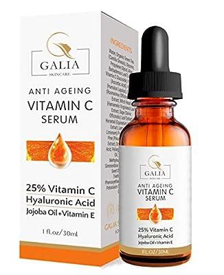 PREMIUM 25% Vitamin C Serum For Face with Hyaluronic Acid &Vitamin E-Anti Aging & Anti Wrinkle Serum-This Vitamin C Serum Will Plump, Hydrate & Brighten Skin, Filling Fine Lines & Wrinkles