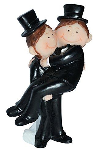 Preis am Stiel 1 x Tortenfigur - Mr. & Mr. | schwules Brautpaar
