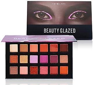 Beauty Glazed Paleta De Sombras De Ojos Profesionales - Paleta Maquillaje - Altamente Pigmentados 18 Colores Brillantes y ...