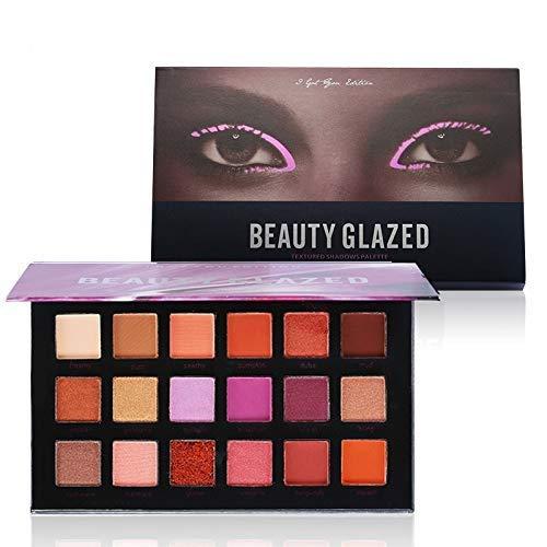 Beauty Glazed Paleta De Sombras De Ojos Profesionales - Paleta Maquillaje - Altamente Pigmentados 18 Colores Brillantes y Mate