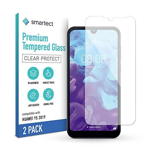 smartect Pellicola Protettiva per Huawei Y5 2019 [2 Pezzi] - 9H Vetro Temperato Proteggi Schermo - Design Ultra Sottile - Applicazione Anti-Bolle - Anti-Impronte