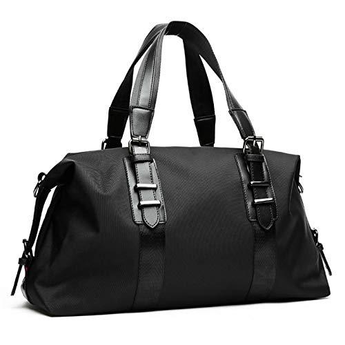 Travel Duffel Bag Oxford Travel Duffle Bags Fashion Men Folding Bag Large Capacity Luggage Handbags Large Handbag (Color : Black Medium size, Size : 50x17x30cm)