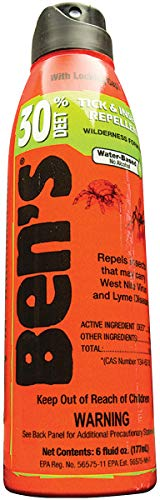 Bens Tick & Insect Repellent 30% Deet 6 Ounce Spray (177ml) (2 Pack)